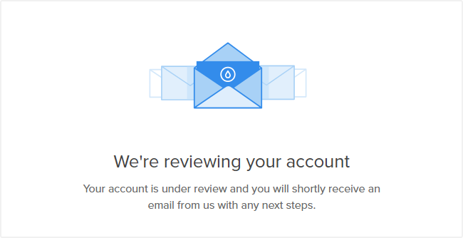 "DigitalOcean 注册提示""We're reviewing your account"""